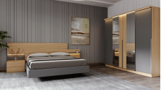 Shifted bedroom